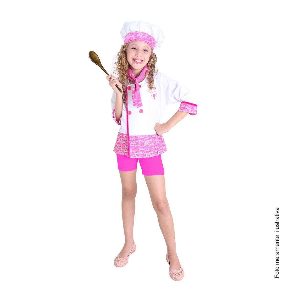9784c4980b Fantasia Barbie Quero Ser Chef