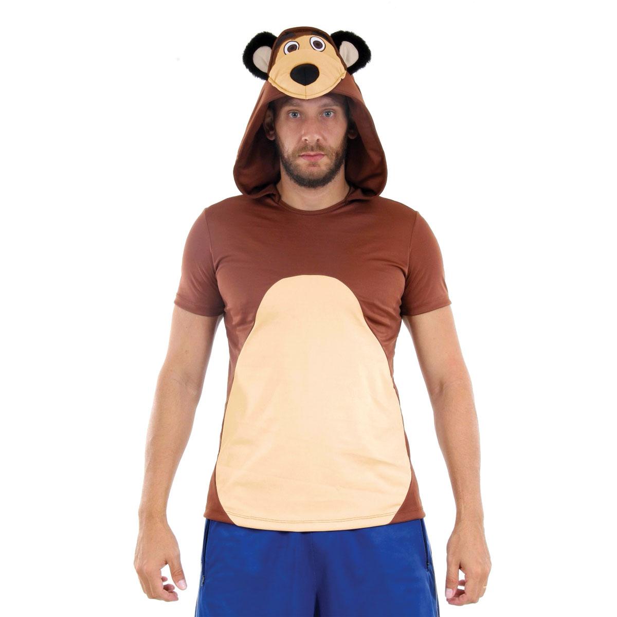 Fantasia Camisa Urso Masha Adulto