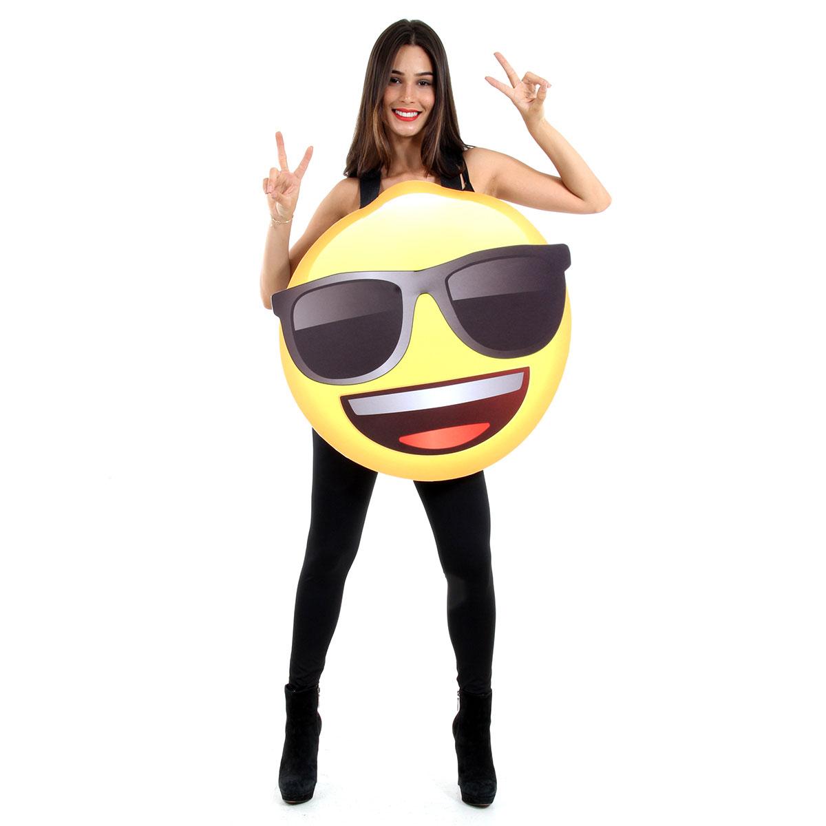 Fantasia Divertida Óculos Escuro Emoji Adulto a5f4941141